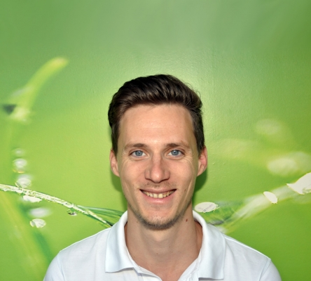 Physiotherapeut Benjamin Vetter im Zentrum Siggi Heyd